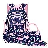 VBG VBIGER School Bags School Backpack Polka Dot 3pcs Kids Book Bag Lunch Bags Purse Girls Teen