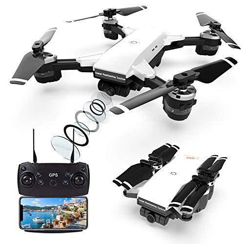 Droni GPS con fotocamera professionale 2K, quadricottero FPV WiFi a 5 GHz con videocamera HD con modalit Seguimi, modalit senza testa e ritorno a casa, drone telecomandato per adulti e bambini