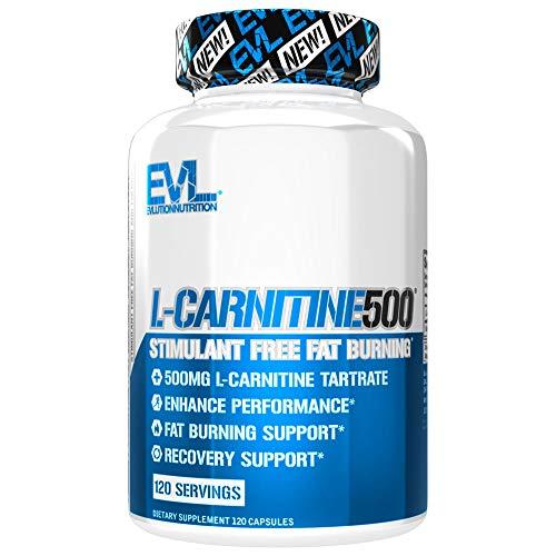 Evl Nutrition Carnitine 500 120 Standard Acide Aminé Carnitine