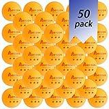 Portzon 50-Pack 3-Star 40+ Orange Table Tennis BallsAdvanced Ping Pong BallPremium Training Ping Pong Balls