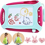 Wellchild Magnetic Drawing Board for Toddlers,Travel Size Toddlers Toys Colorful Erasable A Etch Toddler Sketch Magnetic Doodle Board with One Carry Bag Age of 3 4 5 6 (XB009)