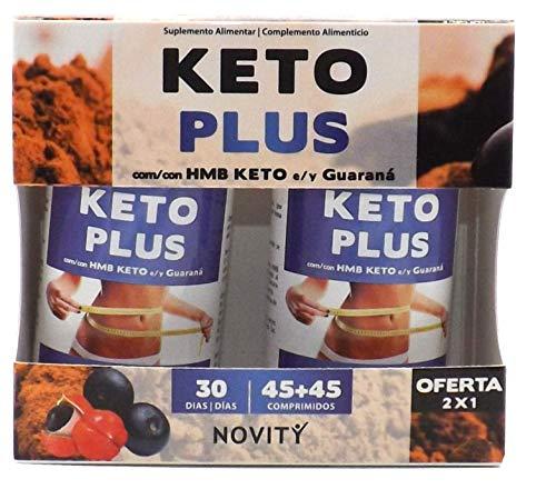 NOVITY Keto Plus 90 comprimidos(45+45),Con HMB KETO Y Guaran
