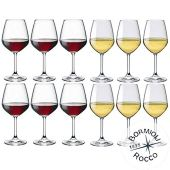 Collezione DIVINO Bormioli Rocco - Set 12 Calici Vino - N° 6 Divino Rosso 53 cl + N° 6 Divino Bianco 44 cl Eleganza a Tavola