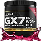 Alpha GX7 Pre Workout for Men and Women - Lasting Energy, Enhanced Performance - Sugar Free 30 Servings Cherry Flavor