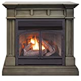 Duluth Forge DFS-400T-2GR Dual Fuel Ventless Gas Fireplace-32,000 BTU, T-Stat Control, Slate Gray Finish