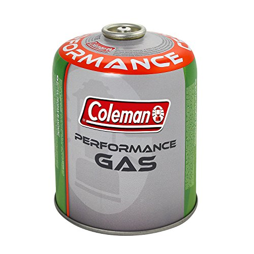 Coleman C500 Performance Gaskartusche, Ventilkartusche mit Schraubverschluss, 440g Butan/Propanmix, Kartusche für Campingkocher und Gaskocher