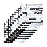 10PCS Carrelage Adhesif Mural Salle de Bain Autocollant Mural en PVC Imperméable...