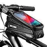 Faireach Sacoche Vélo Téléphone Étanche, Support Téléphone Vélo Cadre avec Ecran Tactile Sensible Bicyclette Guidon Pochette Vélo Guidon du VTT Moto Grande Capacité 1L pour Smartphone sous 6,5 Pouces