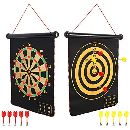 Mixi Magnetic Dart Board for Kids, Outdoor Toys Kids Games...