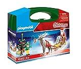 PLAYMOBIL- Maletín Grande Navidad Juguete, Multicolor, única (70312)