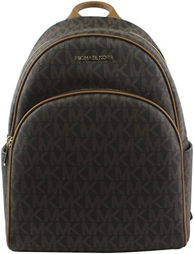 Michael Kors Abbey Jet Set Large Leather Backpack (Brown)
