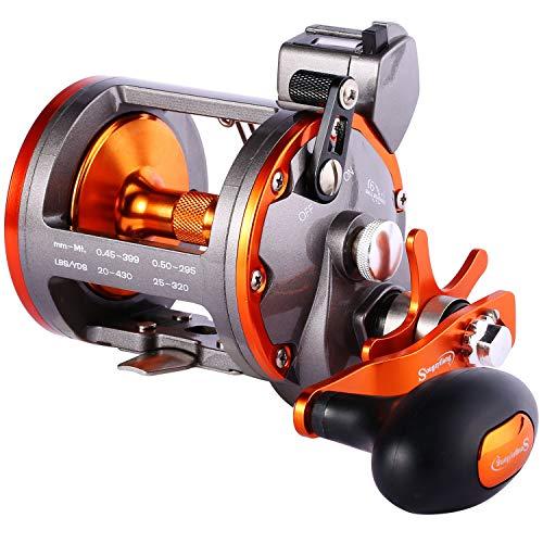 Sougayilang - Mulinello da pesca a traina, livello convenzionale, mulinello da pesca a vento, Thunder LS II 4000R-mano destra