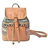 Abaría - Moda la mochila de lona y cuero, bolsos de mujer, mochila pequeño bolsa de viaje, mochilas tipo casual niñas