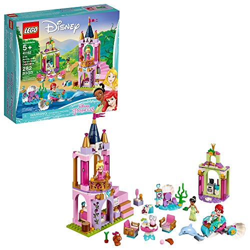 LEGO Disney Aurora, Ariel and Tiana's Royal Celebration 41162 Building Kit (282 Pieces)