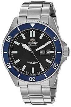 Orient Men's Kanno Japanese-Automatic Diving Watch with Stainless-Steel Strap, Silver, 21 (Model: RA-AA0009L19A)
