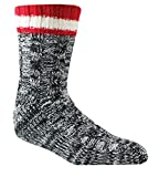 Woolrich, Men's Slipper Sock, Black, Large