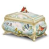 The Bradford Exchange Joe Hautman Songbird Artwork Porcelain Music Box with 22K Gold Sentiment