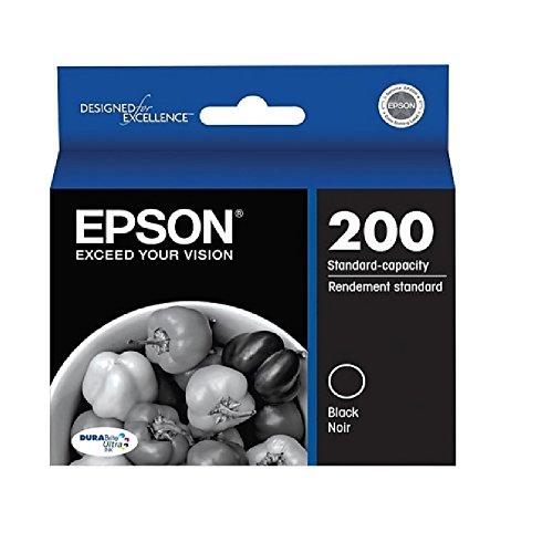 Epson 200, (T200120) DuraBrite Ultra Standard-Capacity Black Ink Cartridge