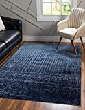 Unique Loom Del Mar Collection Contemporary Transitional Blue Area Rug (5' 0 x 8' 0)