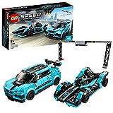 LEGO Speed Champions - Panasonic Jaguar Racing GEN2 e Jaguar I-PACE eTROPHY Modelli che Corrono in Formula E con 2 Minifigure, Set di Costruzioni per Bambini +8 Anni, 76898