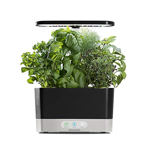 AeroGarden Harvest-Black Indoor Hydroponic Garden