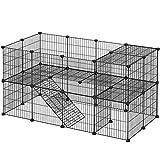 SONGMICS Enclos modulable pour Petits Animaux, Cage intérieur, 2 Niveaux,...