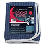 VIKING 922401 Soft Microfiber Waffle Weave Drying Towel, 28 Inches x 36 Inches, Navy