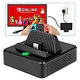 Base de Carga para Nintendo Switch- innoAura Base de Carga Portátil para Reemplazo con Estructura de Enfriamiento, Puerto de Carga USB C, USB 3.0 y Puerto HDMI para Nintendo Switch