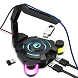 VersionTECH. Mouse Bungee - PC Gaming Mouse Cable Holder Cord Management, 4-Port USB Hub for MacBook...