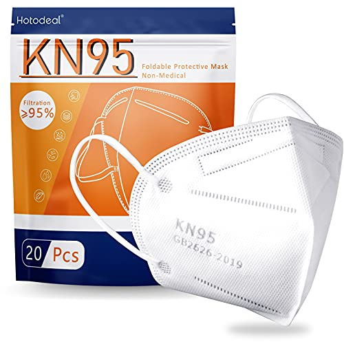 Hotodeal KN95 Face Mask 20 PCS, 5-Layer Cup Dust Mask