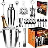Bartender Kit Ice Bucket 3½qt 17pcs. Premium Cocktail Set Mixology...