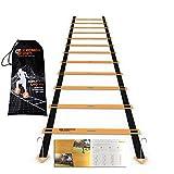 Scandinavian Sports Agility Ladder - 12 Adjustable Rungs 20 Feet - Agility & Speed Training Kit -...
