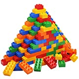 JOYIN 100-pieces Big Building Blocks Classic Bricks 5 Colors | Large Building Bricks STEM Toy for...