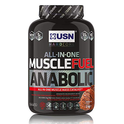 USN Muscle Fuel Anabolic Chocolate Protein Shake 2KG: Workout Boosting All in One Muscle Gain Protein Powder