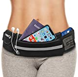 E Tronic Edge Waist Packs: Best Comfortable Unisex Running Belts That Fit All Waist Sizes & All Phone Models for Running, Hiking, Workouts, Cycling, Travelling Money Belt & More, Black