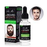 Beard Growth Oil, Pei Mei Natural Organic Hair Growth Oil Beard Oil Enhancer Facial Nutrition Moustache Grow Beard Shaping Tool Beard Care Products Hair Loss Products (30ml)