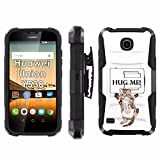 Huawei Union Y538 Phone Cover, Hug Me Cat- Blitz Hybrid Armor Phone Case for [Huawei Union Y538] with [Kickstand and Holster]
