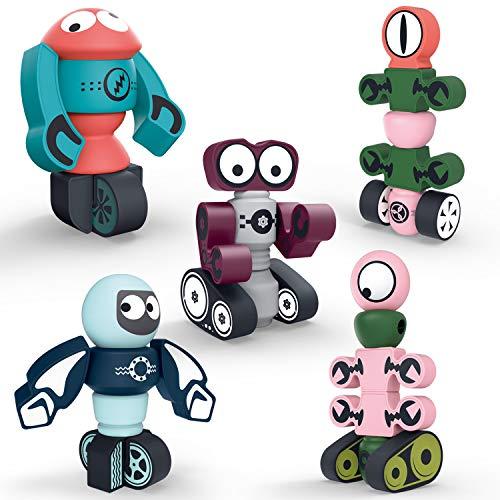 DigHealth 35 Piezas Bloques Magneticos, Juguetes Robot...
