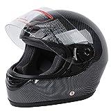 TCT-MT DOT Adult Helmet Carbon Fiber Flip Up Full Face Motorcycle Street Small