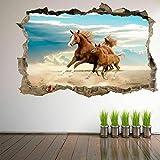 Caballo yegua y potro arte 3D pegatinas de pared pegatinas murales habitación de los niños decoración del hogar GR7