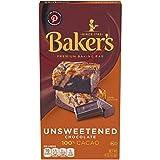 Baker's Premium Unsweetened Chocolate Baking Bar (4 oz Box, Pack of 12)