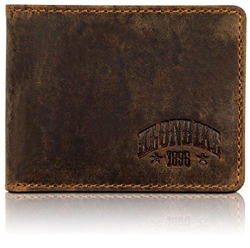 Klondike 1896 'Noah' Carteras Hombre con Monedero, Cartera Hombre Piel, Billetera Minimalista en Formato Horizontal - Marrón