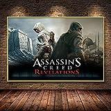 WIOIW Juego de Aventuras Hollywood Action Movie Assassin Swordsman Killer Creed Pirate Canvas Painting Wall Art Poster HD Prints Boy Fans Dormitorio Sala de Estar Decoración del hogar
