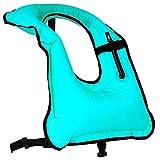 Rrtizan Adulte Unisexe Portable Gonflable Tuba Gilet pour la Plongée en...