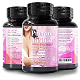 Natural Pueraria Mirifica Capsules 2000mg Daily - Breast Enhancement Pills for Women - Breast Growth Pills, Breast Firming, Vaginal Health, Menopause Relief, Skin and Hair Health 90 Veggie Capsules
