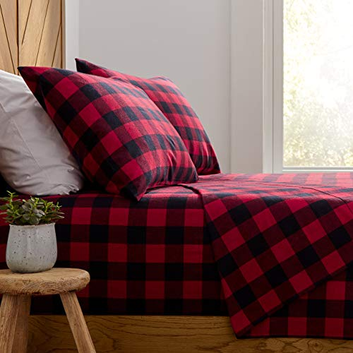 Stone & Beam Rustic Buffalo Check Flannel Bed Sheet Set