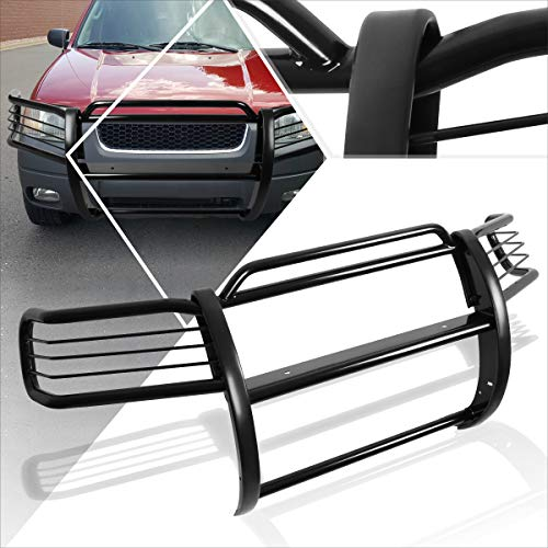 Compatible with Ford Escape CD2 01-04 Front Bumper Brush Grille Guard Protector Coated Black