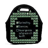 XCNGG Poke Green Trainer Tips Hombres Mujeres Niños Bolsa de almuerzo aislada Tote Fiambrera reutilizable para el trabajo Picnic Escuela