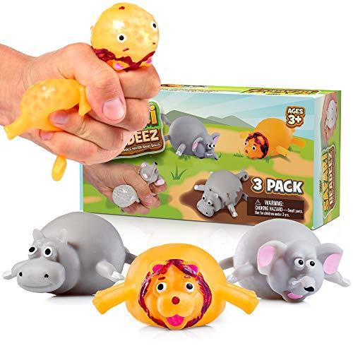 Safari Beadeez - 3 Pack Stress Balls for Kids and Adults...