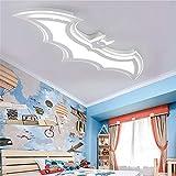 Fixation De Plafond Dimmable Batman Design 95Cm LED Plafonnier En Blanc...